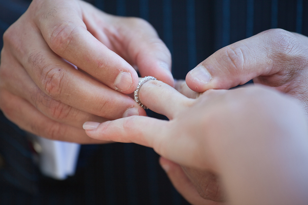 wedding and ring and exchange
