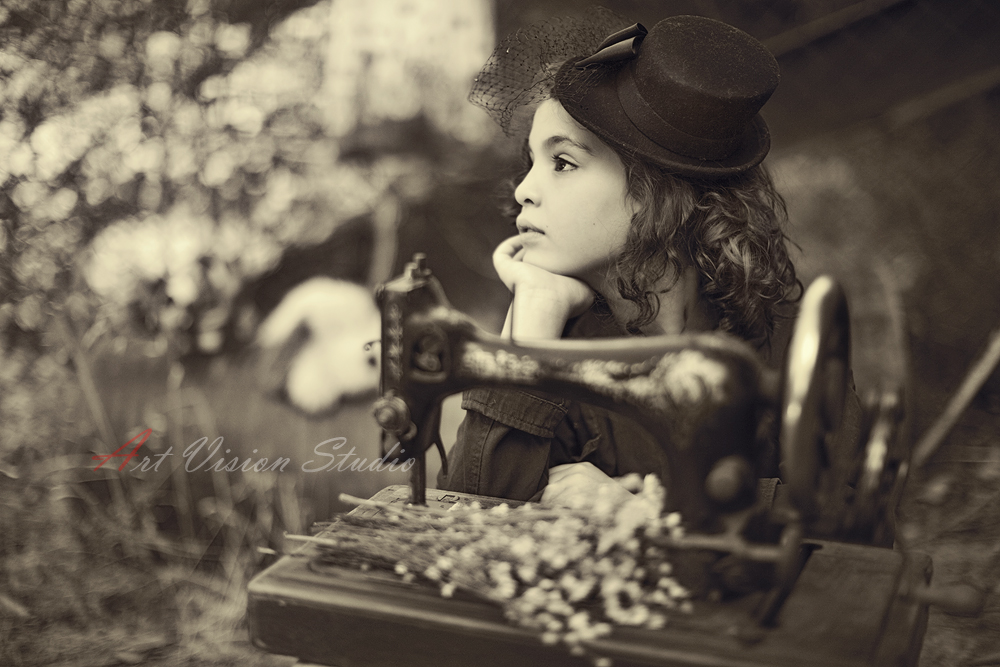 Stamford childrens photographer vintage themed photo shoot
