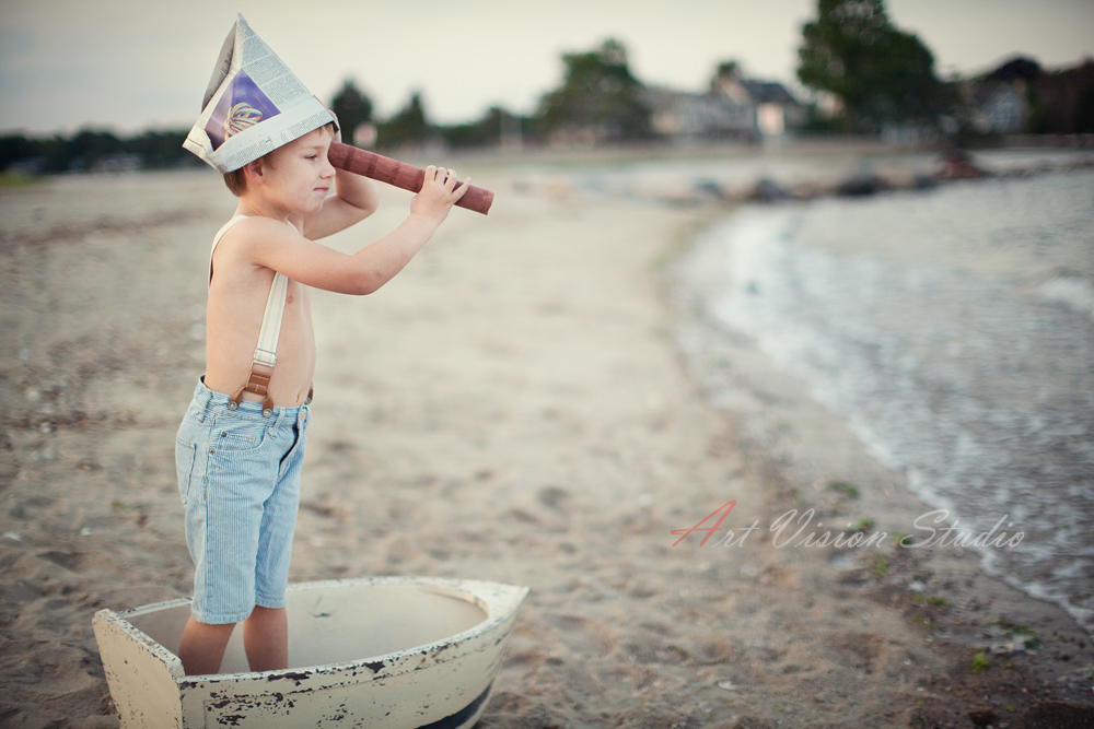 Little Sailor Photography Session For A Boy